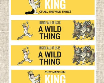 They Made Him King Water Bottle Labels