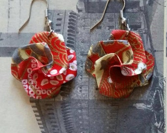 Origami Paper Flower earrings