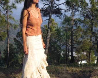 Handloom Khadi Cotton Wrap Skirt Long