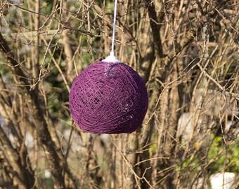Purple Rope Chandelier Natural, Organic