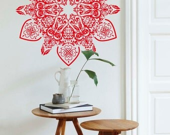 ARABIC Mandala Vinyl Wall Decal, Super Detail