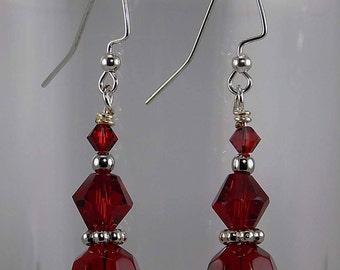 Sparkling red, Swarovski crystals,