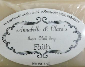 Handmade Goat's Milk Soap: Faith