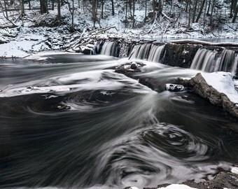 Wissahickon Waterfall Print - Philadelphia - Forbidden Drive Photograph - Nature Photography - Waterfall Photography