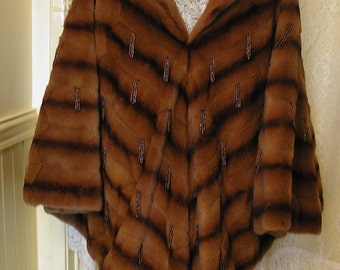 Vintage Mink Poncho and Skirt....Mink Poncho and Mink Skirt
