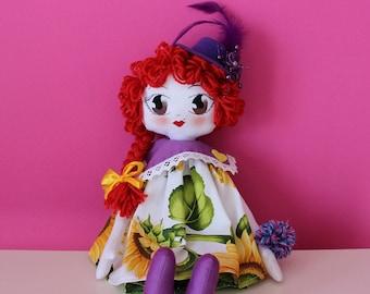 Annie-Handmade-handmade rag doll Rag Doll-[Belle Époque Style]