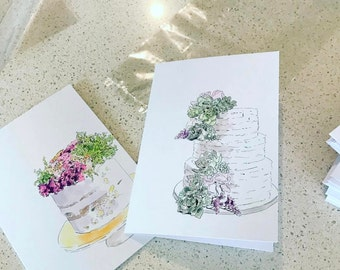 Cake Greeting cards
