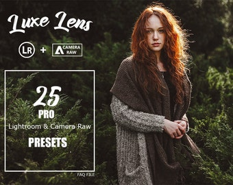 Sale Pro Adobe Lightroom Presets Luxe Lens Collection - Lightroom Presets for Adobe Lightroom 4,5,6,CC & Camera RAW