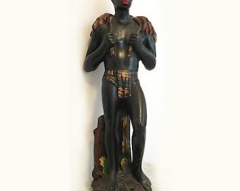 Young black man sculpture