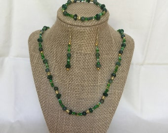 10: Necklace, Bracelet, Earrings Set