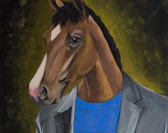 Bojack Horseman acrylic painting - netflix fanart fine art