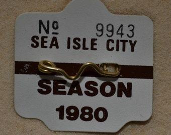 """1980 Canvas Print 14""""x14"""" Sea Isle City Beach Tag"""
