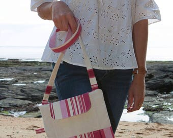 Bag with shoulder strap for summer