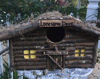 Lonesome Dove Cabin BirdHouse