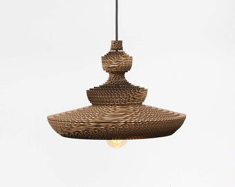 Japan. Corrugated cardboard lamp