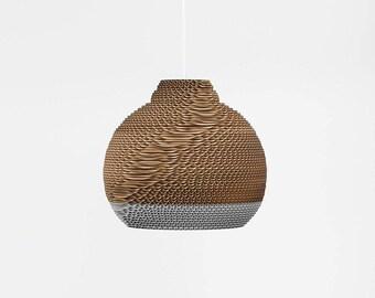 Titania. Corrugated cardboard lamp