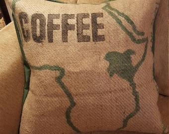 Burlap Coffee Sack Pillow
