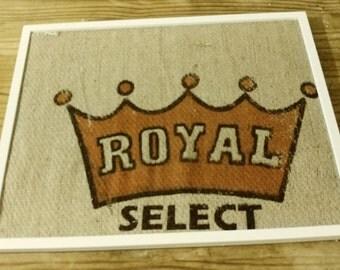 Burlap bulletin board- royal