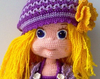 Knitted Doll Violetta