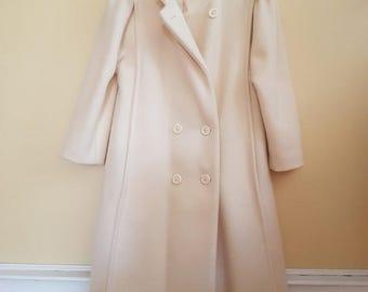 Genuine 100% Virgin Wool Peacoat // Made in Canada // Women's peacoat