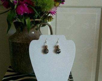 blk wht multi colored earrings