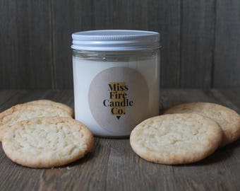 Snickerdoodle Scented Soy Candle in a Glass Jar
