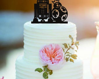 r2d2 wedding cake topper theme wedding etsy 18951
