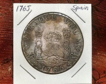 1765 Spanish 8 Reales Coin