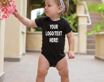 Personalized baby onesies, custom infant one piece Size 3-6M/6M/12/18M New multiple colours text-vinyl-glitter-image-logo perfect gift!