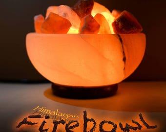Himalayan Salt Lamp - Firebowl - FREE GIFT