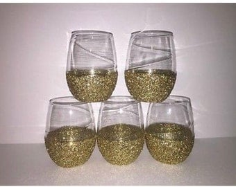 Stemless Customized Wine Glasses
