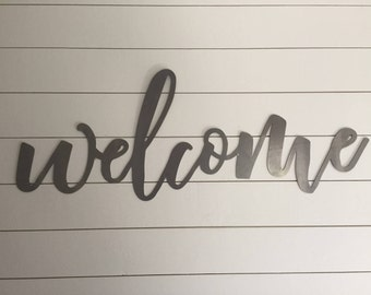 Large Welcome Sign, Metal Welcome Sign, Steel Welcome Sign, Welcome Sign