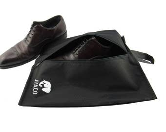 Heavy Duty Shoe Bags for Travel (Black) by JPACO