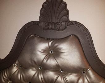 Crown tufted headboard