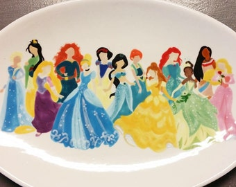 Disney Princess Oval Plate