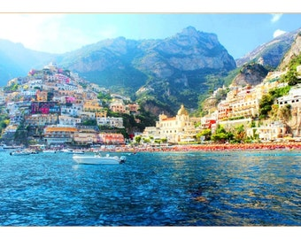 Positano: Table travel photography large format - perfect for decorating your home or give as a gift!