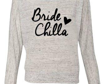 Bridechilla Off Shoulder Tee Bridal Wedding Bridezilla