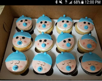 Baby shower cupcakes toppers