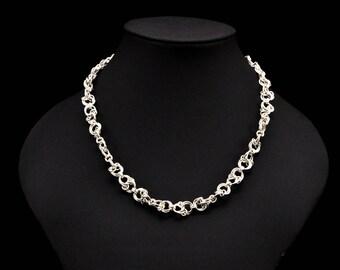 Sterling Silver, Handmade Celtic Twist Necklace