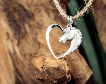 Horse Heart Necklace Pendant