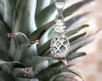 Pineapple Silver Necklace Pendant