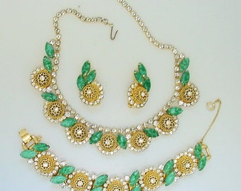Vintage Juliana D&E BookPiece Set - Necklace Bracelet Earrings Parure