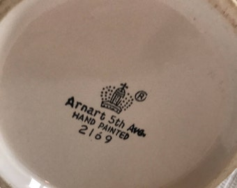 """Vintage Porcelain Stein """"Your Fathers Mustache"""" Arnart 5th Ave 1970s"""