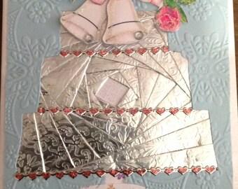 Iris Folding Wedding/Anniversary Greeting Card