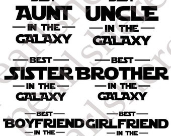 Star Wars SVG&PNG Files for Family Members