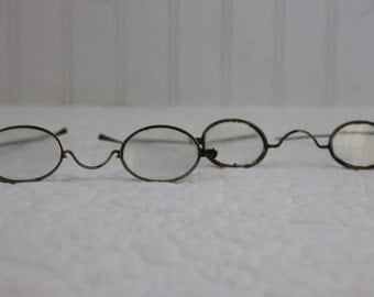 Antique Wire Safety Eye Glasses
