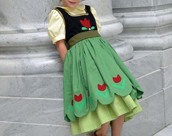 Anna Frozen Costume Dress, Build a Snowman