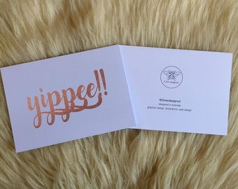 Copper Yippee Congratulations Card
