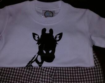 Giraffe Boy's Short Set