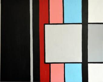 Stripes Acrylic on linnen /canvas 100 x 80 cm
